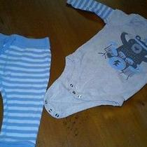 Old Navy Onsie With Pants - Bear Playing Drums Boys 12-18 Months Photo
