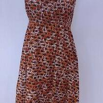 Old Navy Orange and Brown Dress Stretch Top Adjustable Straps-S- Very Unique Photo