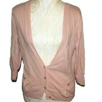 Old Navy Perfect Fit Blush Cardigan Cashmere Blend Size L Photo