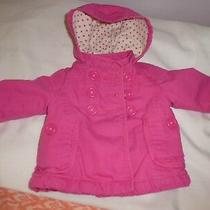 Old Navy Pink Baby Girl Toddler Coat Jacket Hood Top Warm Size 12/18 Months Photo