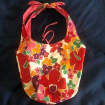 Old Navy Preowned Hobo Purse-Red and Pink Floral Photo