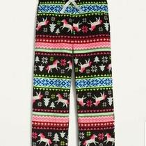 Old Navy Printed Micro Perfomance Fleece Pajama Pants Unicorn Fair Isle Girls M Photo