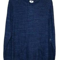 Old Navy Pullover Xxl Blue Heather Hoodie Pockets Long Sleeve Sweater 2xl Photo
