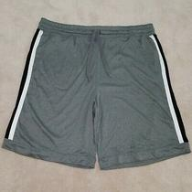 Old Navy Rec Tech Performance Gear Athletic Shorts Gray Black White Men's Xl Photo
