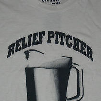 Old Navy Relief Pitcher Mens T-Shirt Small White Tee Funny Drinking Shirts  Photo