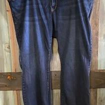 Old Navy Rockstar Dark Blue Bootcut Flare Stretch Jeans 24wl 26wl 26 24 Long  Photo