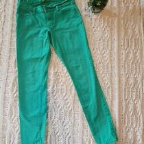Old Navy Rockstar Green Capri Jeans 8 St Patrick's Day  Photo