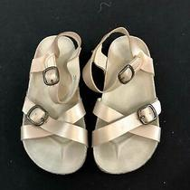 Old Navy Rose Gold Gladiator Girls Sandals Size 10 Photo