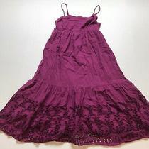 Old Navy Size Xs Knee Length Purple Eyelet Hem Detail Dress A538 Photo
