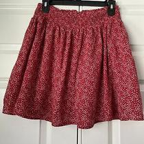 Old Navy Skirt Medium. Fully Lined. Red With White Stars. Photo