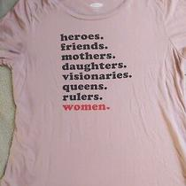 Old Navy Small Feminist T-Shirt Pink Blush S Photo