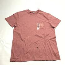 Old Navy Soft-Washed Crew Tee Shirt T-Shirt Pink Salmon Size M Mens Top Solid  Photo