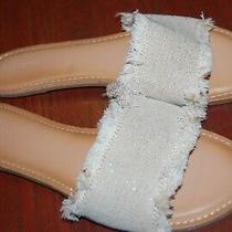 Old Navy Sparkling Silver Slides Size 10. Brand New Sandals  Photo