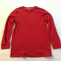 Old Navy Sweater Youth Extra Large Red Solid Sleepwear Pajamas Cotton Kids Shirt Photo