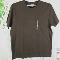 Old Navy T-Shirt Brown Solid Top Short Sleeve 100% Cotton Size Xl  Nwt Photo