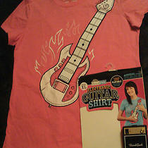 Old Navy Think Geek Pink Electric Guitar Shirt (Women's l) Photo