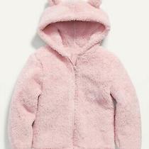 Old Navy Toddler Girl Sherpa Critter Jacket Hoodie Blush Hue Pink Multiple Sizes Photo