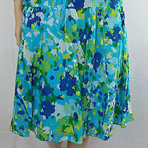 Old Navy Turquoise Skirt Size Medium Gorgeous Bright Color Wide Skirt Stunning Photo