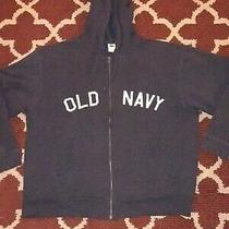 Old Navy Vintage Men's Full Zip Hoodie Size Xxl Blue Photo