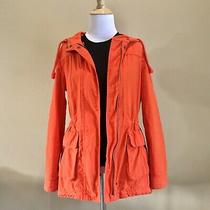 Old Navy Women Hooded Lined Parka Jacket Coat Xs Cinched Waist Removable Lining Photo