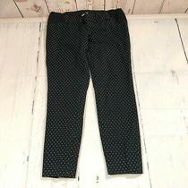 Old Navy Women Maternity Pixie Pants Size 2 Regular Side Panel Black White E124 Photo
