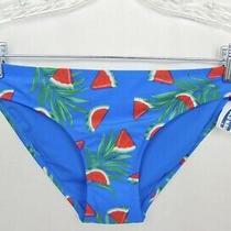 Old Navy Womens Blue Watermelon Print Bikini Swim Suit Bottoms Size Xs Nwt Photo