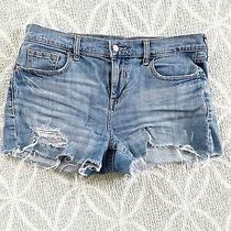 Old Navy Womens Boyfriend Denim Cut Off Shorts Size 6 Photo