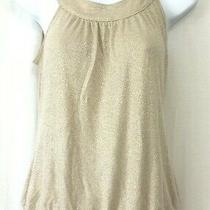 Old Navy Women's Gold Sparkle Sleeveless Knit Top Size M  Photo