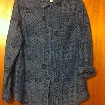 Old Navy Women's Large Shirt - Blue on Blue Photo