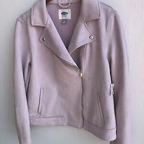 Old Navy Women's Moto Faux Suede Jacket Size Large Nwt Photo