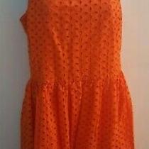 Old Navy Women's Orange Eyelet Sleeveless Dress Size 8 Photo