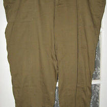 Old Navy Women's Plus Pants Trousers Banded Hem Olive Green Size 24 Euc Photo