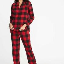 Old Navy Women's Red Buffalo Flannel Pajama Matchy 2 Piece Set - Size Small Nwt Photo