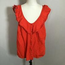 Old Navy Women Sleeveless Blouse Tank Top Shirt Size Large Red Rayon Blend C42 Photo