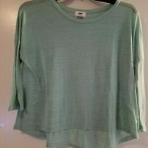 Old Navy Women Teal Long Sleeve Top Size S Mint Condition Photo