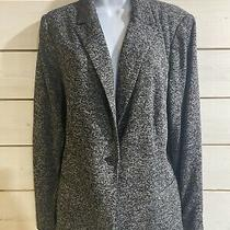Old Navy Womens 1x Heathered Black Gray Soft Comfort Blazer Work From Home Nice Photo