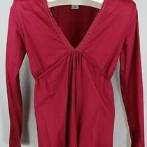 Old Navy Womens Ladies Burgundy Long Sleeve Maternity Top Size Medium Photo
