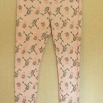 Old Navy Womens Pajama Pants Size Medium Waffle Knit Pink Sloth Candy Canes   Photo