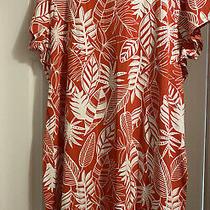 Old Navy Womens Plus Tropical Themed Salmon/orange Dress Size 4x Nwt Photo