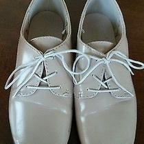 Old Navy Womens Size 7 Oxford Flats Lace Up Champagne Blush Pink Photo
