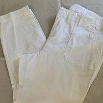 Old Navy Womens Sz 18 White Sturdy Cotton Pixie Pant Front  Back Pockets Photo