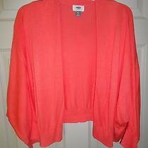Old Navy Xxl Coral Cardigan Summer Weight Batwing Sleeve Ribbed Hem Cuff  Photo