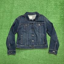 Old Navy Youth Juniors Girls Blue Wash Button Denim Jacket Size Large Photo