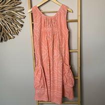 Oli & Co Size S - M 100% Cotton Blush Pink Leopard Spot Dress Blouson Boho Photo