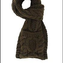 Olive Color Cable Knit Super Long Pocket Scarf. From Avon Photo