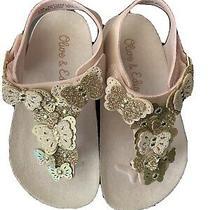 Olive & Edie Little Girls Butterflies Blush Pu Sandal Size 7 Toddler Photo