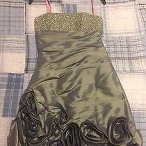 Olive Green Blush Prom Dress Photo