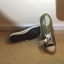 Olive Green Converse Low-Tops Size M9/w11 Photo