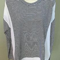 Olive & Oak Beachy Black and White Cotton Acrylic Tunic L New Photo