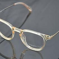 Oliver Peoples Eyeglasses Ennis  Buff/antique Gold  Color 1094 New Photo